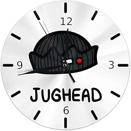 Kncsru Stille, Nicht tickende runde Wanduhren, von Jughead Jones - Riverdale inspirierte Uhren, batteriebetriebene, analoge, leise Quarzuhr