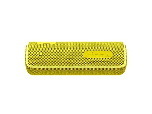 Sony SRS-XB21 kabelloser Bluetooth Lautsprecher (tragbar, farbige Lichtleiste, Extra Bass, NFC, wasserabweisend, kompatibel mit Party Chain) gelb