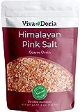 Viva Doria Himalayan Pink Salt, Coarse Grain, Certified Authentic, 5 lb. (2.27 Kg) For Grinder...
