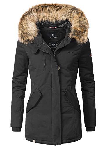 Navahoo, Nisam, Cappotto invernale da donna, disponibile in 13 colori, taglie XS-XXL Nero M