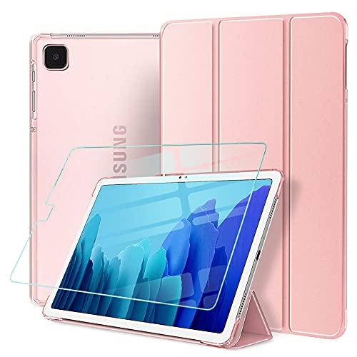 AROYI Hülle Kompatibel mit Samsung Galaxy Tab A7 Lite 8.7 2021 + Panzerglas, Superdünn Schutzhülle mit mit Transparenter Rückseite, Auto Schlaf/Wach Hülle für Samsung Tab A7 Lite (8,7 Zoll)