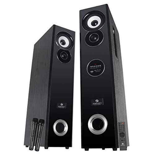ZEBRONICS ZEB-BT7800 RUCFO Tower Speaker with Bluetooth Supporting USB, SD Card, FM, AUX and Optical Input, Black