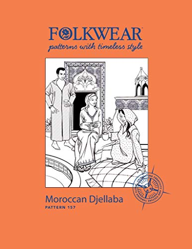Folkwear Moroccan Djellaba #157 North African Hooded Caftan Sewing Pattern (Pattern Only) folkwear157