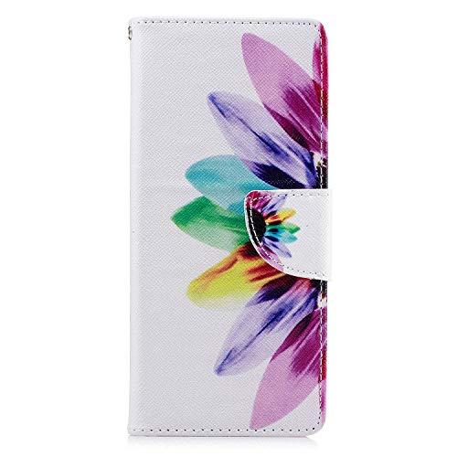 Lomogo Sony Xperia 10 Hülle Leder, Schutzhülle Brieftasche mit Kartenfach Klappbar Magnetverschluss Stoßfest Kratzfest Handyhülle Case für Sony Xperia10 - LOBFE050117#7