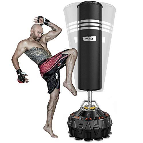 Dripex Boxsack Erwachsene Freistehender Standboxsack MMA Boxpartner Boxing Trainer Heavy Duty Boxsack mit Saugfuß, mehrere Farbe (178cm/70 Schwarz)