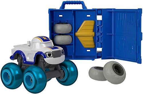 Blaze y los Monster Machines-FHV40 Vehículos taller de ruedas, coche Darington, color blanco (Mattel FHV40) , color/modelo surtido