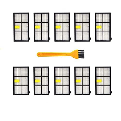 Cepillo Lateral HEPA Accesorios De Filtro Reemplazo De Repuesto Piezas De Aspiradora/Ajuste para Irobot Room.BA 800 900 Series 860 870 871 880 890 960 980 (Color : 11pcs)