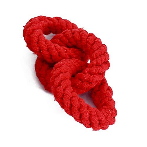 NaiCasy Haustier Hund kaut Spielzeug DREI Ringe Cotton geflochtenen Seil Hundespielzeug Dental Tiere Hündchen Haustier Seil Spielzeug für kleine und mittelgroße Hunde, kleinen Haustierbedarf