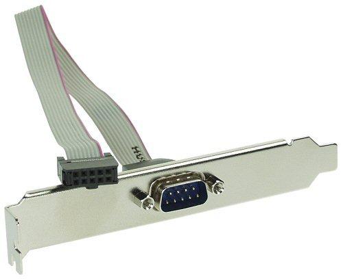 InLine 33208 Serielles Slotblech, 9-pol Stecker an 10-pol Buchsenleiste, 1:1, 0,25m