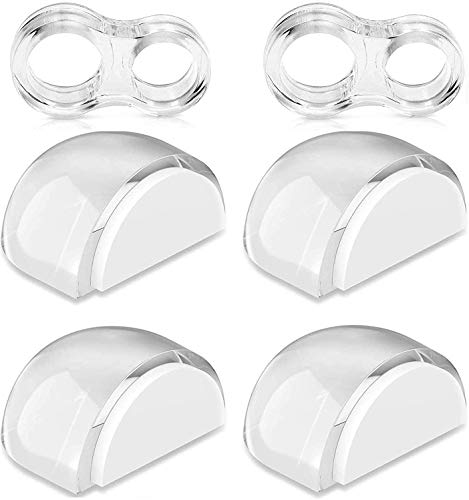 Tauras Durable Clear Door Stop Door Handles for Wall Furniture Protection, Suitable for All Surfaces - 6 Pieces