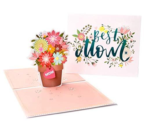 3D Pop-Up Grußkarte Blumenstrauß Dankeskarte 3D Pop Up Karte Tulpen Kreative Grußkarte Geburtstagskarte Muttertagskarte Jubiläumskarte Glückwunschkarte Muttertag Vatertag für Freundin Mutter Lehrerin