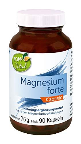 Kopp Vital Magnesium forte   90 Kapseln   76 g   Jetzt mit sieben Magnesium-Verbindungen   Hergestellt in Deutschland   Nahrunsergänzungsmittel
