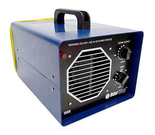 OdorStop OS1500 - Ozone Generator for Areas of 1500 Square Feet+, for Deodorizing and Sanitizing Small to Medium Spaces Such as Hotel Rooms, Large Bedrooms, and Attics (1500 sq ft +)