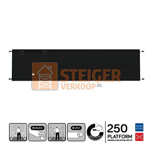 Euroscaffold Steigerverkoop - Rolsteiger platform met luik 250 cm carbon vloer (lichtgewicht)