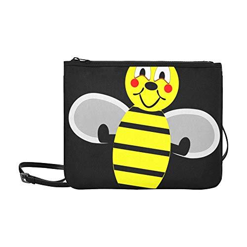 Tasche Mode Biene Wespe Hummel Honigbiene Insekt Honig Gelb Verstellbarer Schultergurt Coole Umhängetasche Für Frauen Mädchen Damen Klassische Umhängetasche Modetaschen Für Teen Girls
