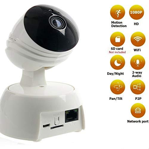Draadloze IP-camera voor binnen, HD 720p met bewegingsdetectie, nachtzicht, PTZ, 2-weg audio, apps voor mobiele apparaten