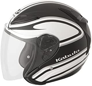 Kabuto XF-3-74-1160M Avand II Staid Performance Helmet , Distinct Name: Staid Flat White/Black, Gender: Mens/Unisex, Helmet Category: Street, Helmet Type: Open-face Helmets, Primary Color: Black, Size: Md