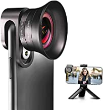 iPhone Camera Lens Pro with Tripod - ANGFLY 4K HD 120° Wide Angle Lens & 20X Super Macro Lens, Phone Camera Lenses Compatible with iPhone Android Samsung One Plus Huawei Phones and Tablets