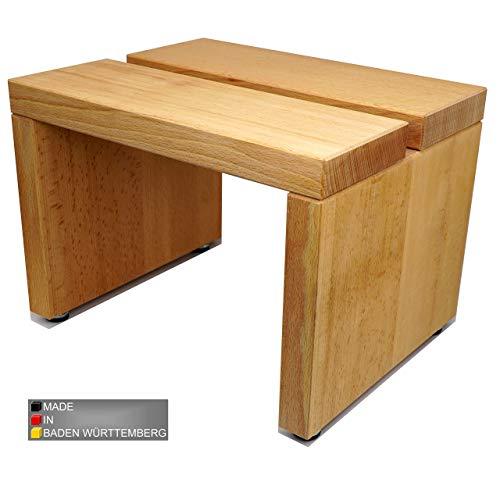 myduct - Taburete moderno de madera de haya maciza con asa.