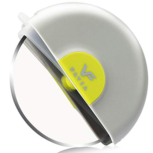FAVIA Handheld Pizzaschneider Wheel Slicer 304 Edelstahl Sharp Blade mit Schutzklinge Schutzhaube