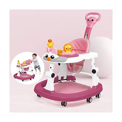 CJW-LC Baby Lauflernhilfe, Zusammenklappbarer Lauflernwagen Mit Push Griff Und Fußpolster, 8 Stumme...