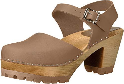 MIA Women's Abba Clog, Khaki Leather, 9 M US