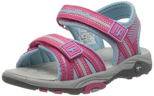 KangaROOS K-Lane Unisex-Kinder Sneaker, Rot (Daisy Pink/Blue Sky 6178), 37 EU