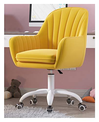 LYJBD Sedia Ufficio ergonomica Sedia da scrivania, Cuscino del Sedile Spesso Regolabile in Tessuto in Velluto, Sedia da Ufficio ergonomica, Sedia Girevole per Adulti e Bambini