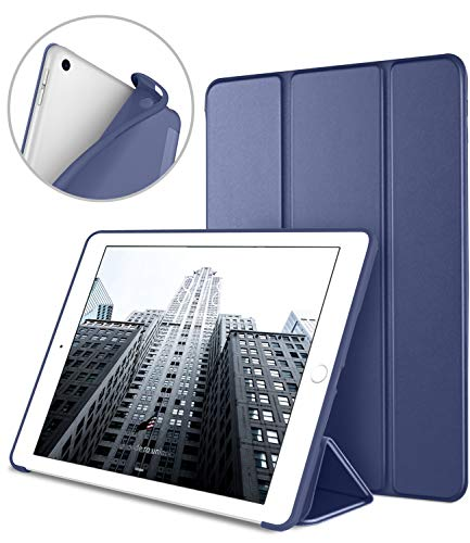 DTTO iPad 9.7 Case 2018 iPad 6th Generation Case / 2017 iPad 5th Generation Case, Slim Fit Lightweight Smart Cover with Soft TPU Back Case for iPad 9.7 2018/2017 [Auto Sleep/Wake] - Navy Blue