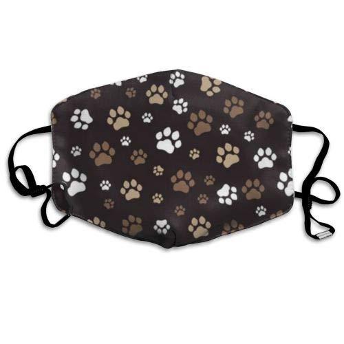 Niedliche lustige Hundepfote Männer Frauen Atmungsaktive Bequeme Gesichtsschutzhülle mit elastischem Gurt für die persönliche Gesundheit Verschiedene Verwendung