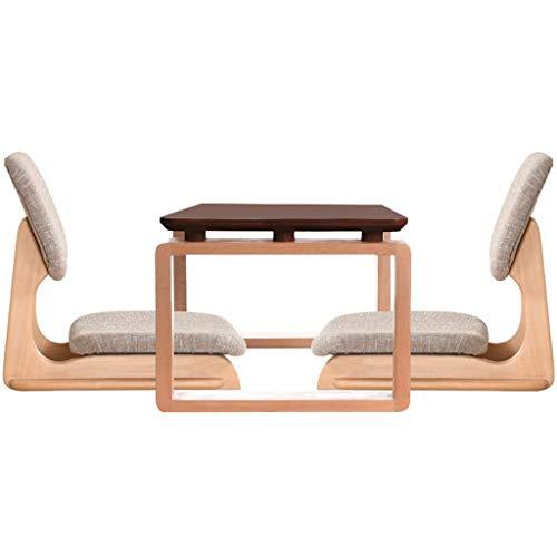 Tavolini da caffè Set tavolino e Sedia in Legno massello in Stile Giapponese Set di tavoli for finestre a Balconcino Tavolo Tatami Tavolo Nano Tavoli e tavolini