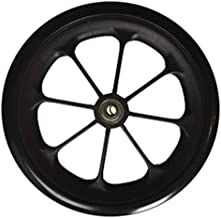 Healthline 8 inch by 1 inch Replacement Wheels for Wheelchairs, Rollators, Walkers and More, Solid Flat Free Caster, Black (1)
