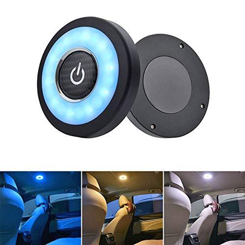 Blueskysea Luce per vano carico Bagagliaio a LED Interni Auto Ricaricabile USB, Luce da Parete Multifunzione Luminosa 12V Lampade a Spingere per Camper Camera da Letto da Campeggio