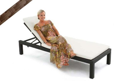 Big Sale Impulses Resin Wicker Outdoor Chaise Lounge Chair LINEA, Brown