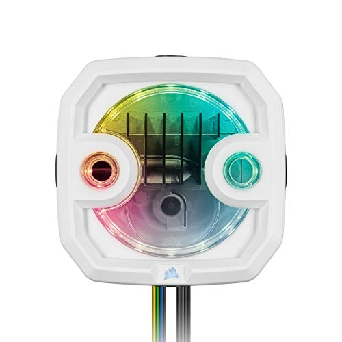 Corsair Hydro X Series XD3 RGB - Sistema combinato compatto pompa/serbatoio, Bianco