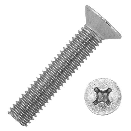 Mesaros - Tornillos de cabeza avellanada con estrella (8 x 100 mm, acero inoxidable A2, 50 unidades)