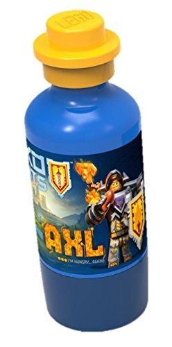 Lego Vattenflaska Nexo Knights AXL 350 ml – Drinking Flaska för resa eller hemma – gott humör och glädje för barnet