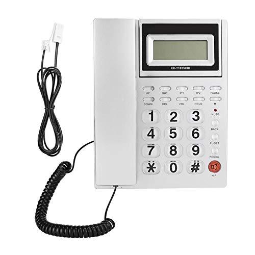 Ymiko Teléfono de Escritorio Plateado Hogar de Negocios Teléfono Fijo Teléfono con Cable Identificador de Llamadas Fijo Fijo(británico)