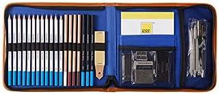مجموعه رنگ سفر نقاشی COLOR BLOCK 37 قطعه ای در یک بوم با سایه بان بوم ، با طراحی مدادهای هنری ، پاستیل ، ذغال سنگ و چوب های گرافیتی ، پد طراحی و ابزار طراحی