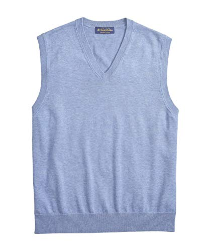 Brooks Brothers Men's 98694 Supima Cotton V-Neck Sweater Vest (Medium)