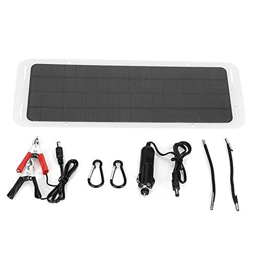 sZeao Panel Solar del Vehículo 20W 12V Batería Monocristalina Cargador del Panel Solar Impermeable Portátil para Caravanas De Coche Viajes De Camping