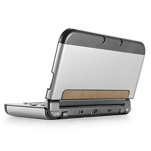 TNP Schutzhülle für Nintendo 3DS XL LL 2015, Aluminium Gehäuse Hartschalen Hülle für Nintendo Switch Spiele Konsole, Scharnierloses Hartschalenetui Case Cover mit ultraschlankem Design, Silber