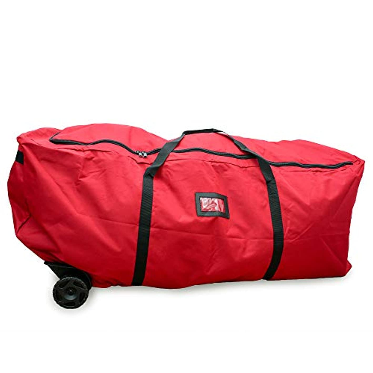Quick & Carry - Super Large Rolling Christmas Tree Storage Duffel Bag, w/Premium Stitching, Rip-Stop for Rugged Durability, Super Easy Rolling Wheels, Fits up to 9ft Artificial Tree (Large Rolling)