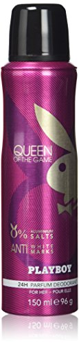 Playboy Queen of the Game Deo Body Spray, 2er Pack (2 x 150 ml)