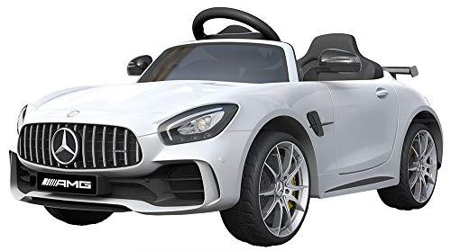 Shov Mercedes Benz GTR AMG Kinderauto Elektroauto Kinderfahrzeug 12V (Weiss)*