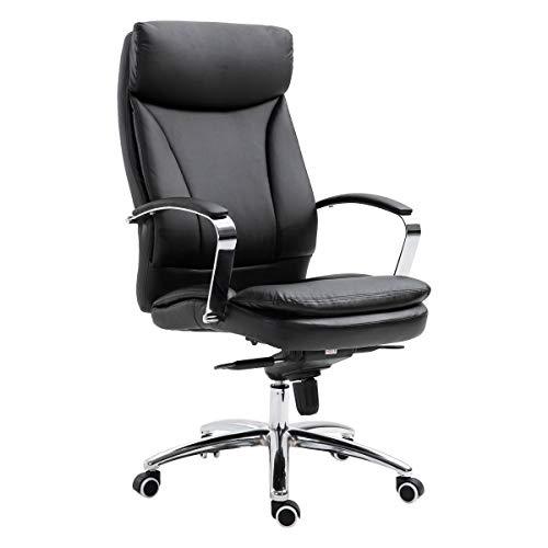 SVITA Bürostuhl Chefsessel Drehstuhl Drehsessel Wippfunktion Höhenverstellbar Schwarz