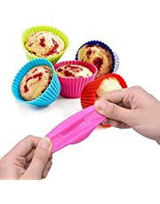12Pcs/pack 7cm Silicone Soft Round Cake Muffin Chocolate Cupcake Liner Baking Cup Mold