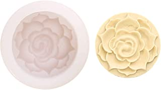 Herafica Moon Cake Silicone Mold Mid-autumn Festival 3D Rose Flower Chocolate Fondant Cookie Moulds Mooncake Mousse Decora...