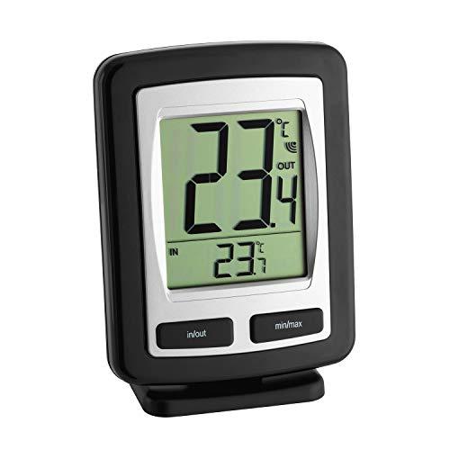 SELVA Funk-Thermometer Zoom, Messgerät für Außen- und Innentemperatur, kabellos, Übertragung bis zu 80 Meter