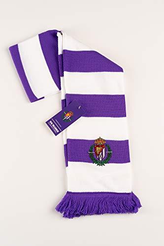 Real Valladolid voetbalclub sjaal, gestreept, voor dames, wit en paars, niet standaard